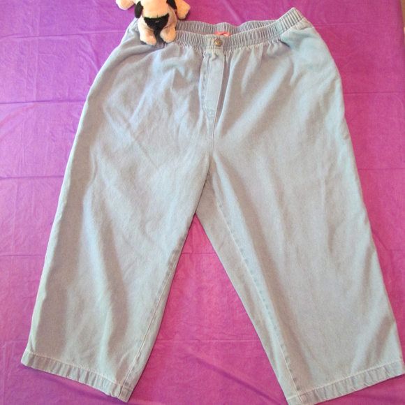 7b05fa217717f8 Woman Within Jeans | Light Denim Capris Size 20w Pull On | Poshmark